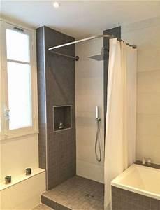 Barre Rideau Fixation Plafond : 41 best images about le rideau de douche sa place dans ~ Premium-room.com Idées de Décoration