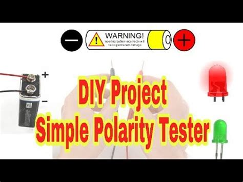 Simple Polarity Tester Diy Project Youtube