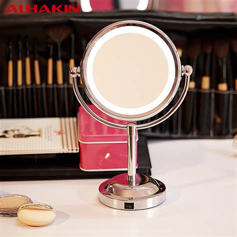 professional makeup mirror with lights alhakin 6 inch led professional makeup mirror with led