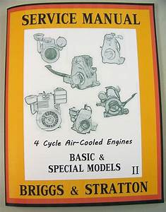 Briggs Stratton 8bh 8bha Engine Service Shop Overhaul