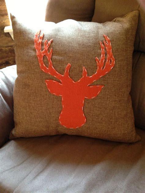 hunting themed nursery diy deer burlap pillow