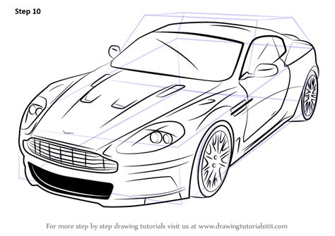 Learn How To Draw Aston Martin Dbs (sports Cars) Step By