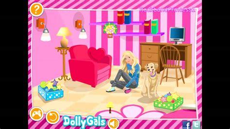 Barbie Games  Decorate Barbie's Bedroom Game Barbie