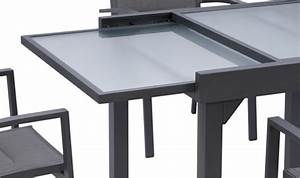Table De Jardin Extensible Aluminium : grande table de jardin extensible grise et plateau en ~ Teatrodelosmanantiales.com Idées de Décoration