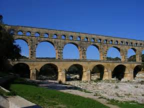 wallpapers pont du gard roman aqueduct