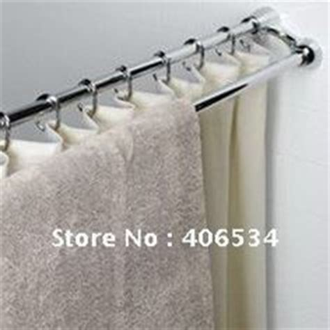 zenith double curved shower curtain rod grey curtain