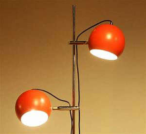 1970s two light red eye ball floor lamp for sale at 1stdibs for Floor lamp with metal balls