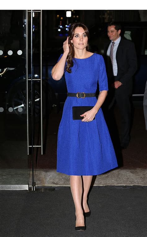 Kate Middletons Blue Dress At Fostering Excellence Awards