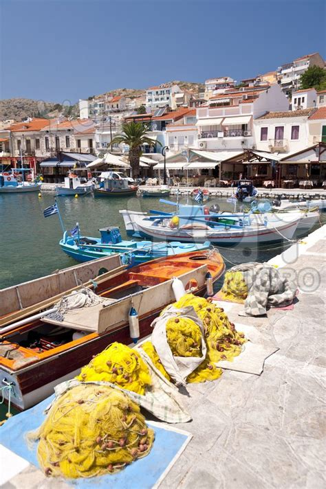 fishing boats  samos greece vignettes  daily life