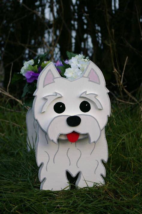 west highland terrier westie garden planters