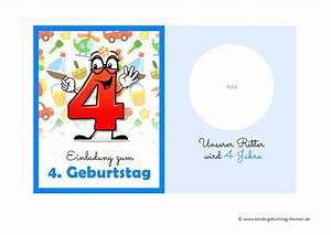 Kindergeburtstag Spiele Für 4 Jährige : einladung 4 geburtstag kostenlose vorlagen zum ausdr cken ~ Whattoseeinmadrid.com Haus und Dekorationen