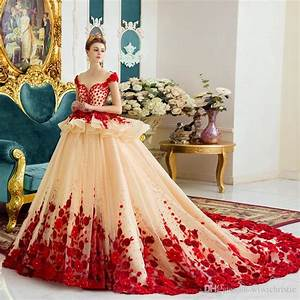 2016 wedding dresses 3d floral appliques ball gown luxury With floral wedding dresses for sale