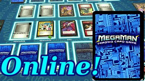 Playing The Megaman Nt Warrior Card Game Online! (table