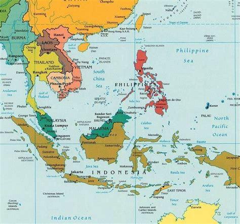 map  southeast asia brunei cambodia indonesia laos