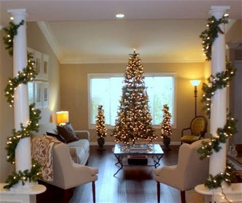 how to decorate indoor column for xmas lights around columns