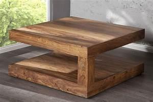 Table De Salon Bois : table de salon bois massif petite table de salon en bois trendsetter ~ Teatrodelosmanantiales.com Idées de Décoration