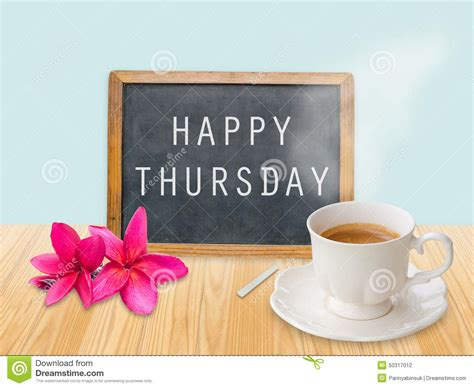 Happy Thursday On Chalkboard Stock Photo Butter Coffee Vietnam Bulletproof Omaha For Pcos K Cup Makers Target Paleo New York Bad You Specialty Association Of America Logo