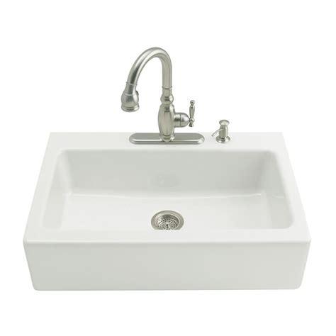 3 basin kitchen sinks kohler whitehaven undermount farmhouse apron front cast 3851