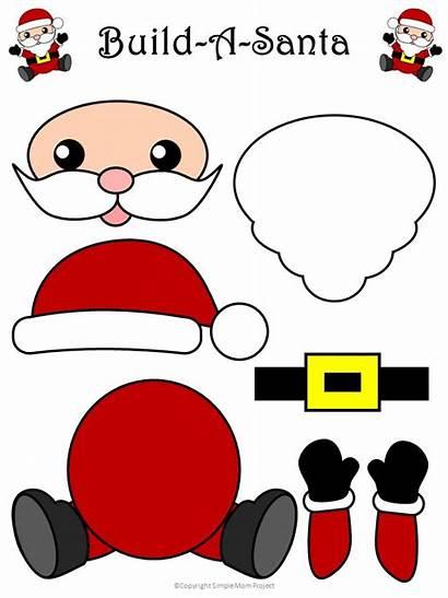 Claus Santa Craft Crafts Templates Preschool Printable