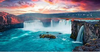 Iceland Godafoss Waterfalls Mahabaleshwar Nature Exhibits Alaska