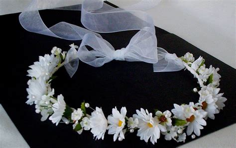 communion halo wedding flower crown hair wreath