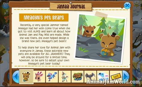 meagyns pet bear  animal jam  aj pet