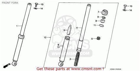 honda qr50 1994 r australia front fork schematic partsfiche