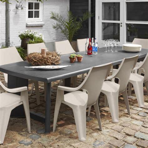 ALLIBERT New York 260 table de jardin graphite - Allibert
