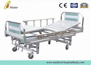 Aluminum Pipe Medical Hospital Beds Manual 3 Crank Bed For