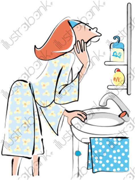 maison de la femme abbeville femme dans sa salle de bain illustration a la maison libre de droit sur illustrabank
