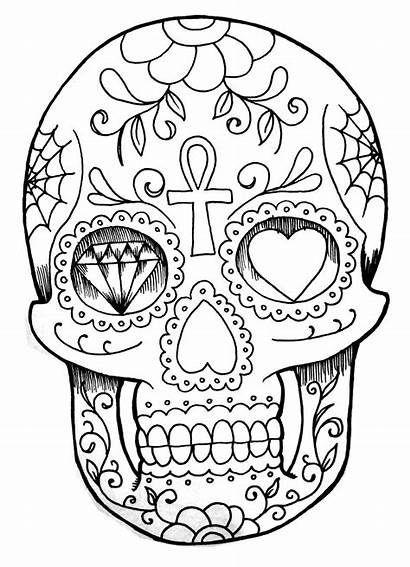 Coloring Tattoo Skull Pages Tattoos Tatoo Adult