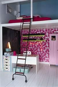 4 Murs Papier Peint Chambre : papier peint 4 murs chambre 11 une chambre rose pour ~ Zukunftsfamilie.com Idées de Décoration