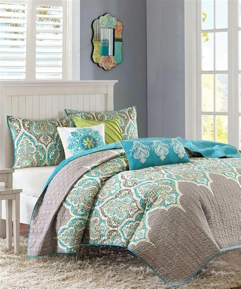 zulily teal paisley bedding set