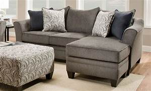 Albany pewter chaise sofa sectionals living room for Allison recliner sectional sofa by albany industries