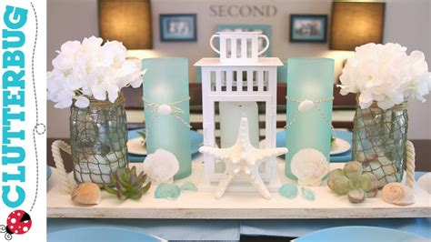 diy beach theme decor ideas pottery barn hack youtube