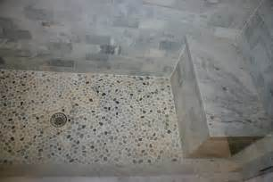 Sliced Pebble Tile Flooring by Bathroom Design Pebble Tiles Home Decorating