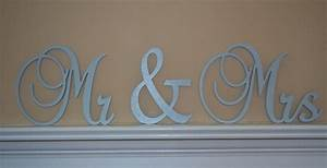 mr mrs sign connected letters wedding decor wooden With mr and mrs wooden letters for wall