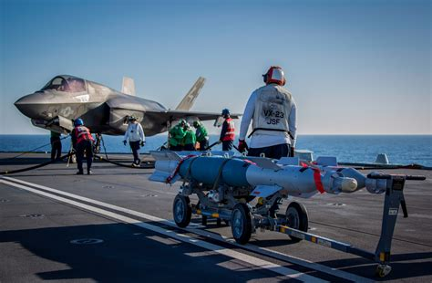 the royal f test bombs dropped from hms elizabeth s f 35 lightning fighter jets royal navy