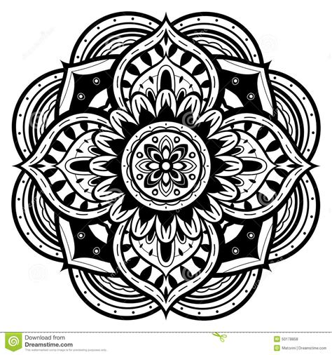 Kleurplaat Aler Liefe Nich by Schwarzweiss Mandala Vektor Abbildung Illustration
