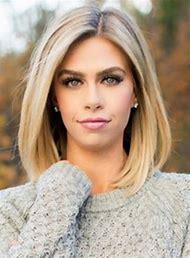 Medium Length Straight Blonde Hair
