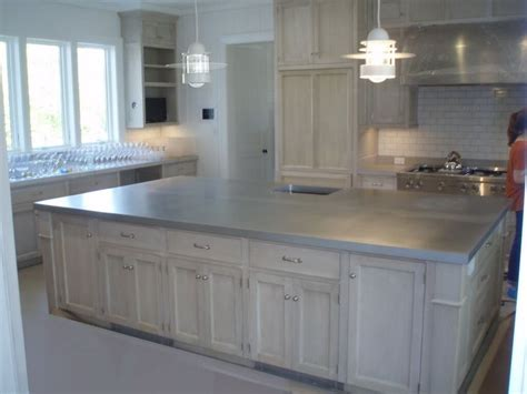 zinc countertops ideas  pinterest metal