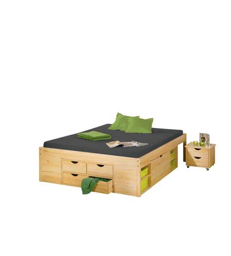 lade comodino design letto con contenitori e comodino