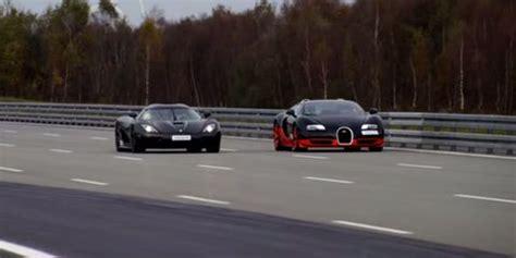 La bugatti veyron, c'est un peu le maître étalon auquel les voitures de série les plus rapides de la planète ou les bolides lourdement préparés fraîchement terminés se doivent d'être comparés. Watch a Bugatti Veyron do Battle with a Koenigsegg Agera R