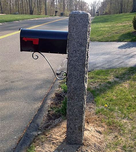 mailbox post granite mail box post connecticut