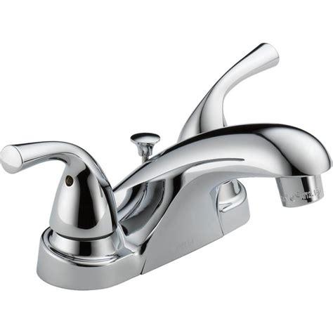 delta kitchen sink faucets shop delta foundations chrome 2 handle 4 in centerset
