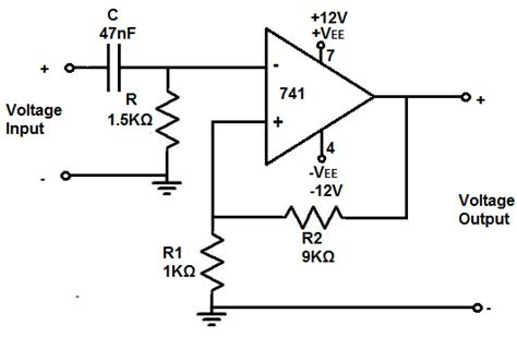 How Build Active High Pass Filter Circuit With Amp