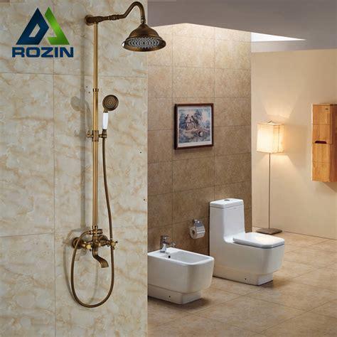 bathroom shower fixture sets bathroom 8 quot rainfall shower shower complete faucet 16391