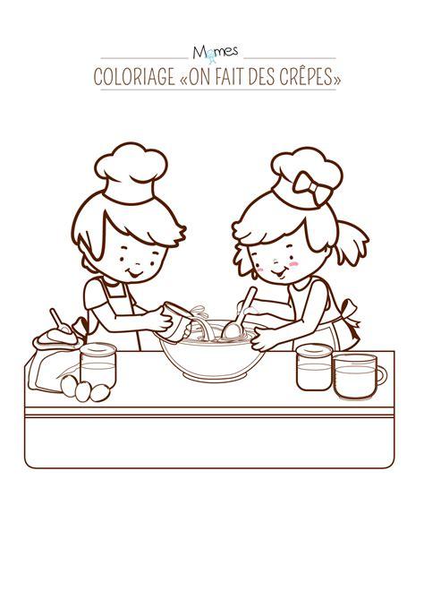 jeux de cuisine de crepe coloriage quot on fait des crêpes quot momes