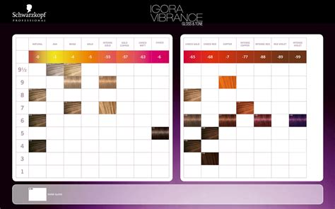 schwarzkopf hair color chart schwarzkopf professional igora vibrance gloss tone color