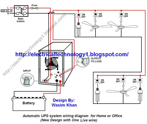 Automatic Ups System Wiring Circuit Diagram For Home Office